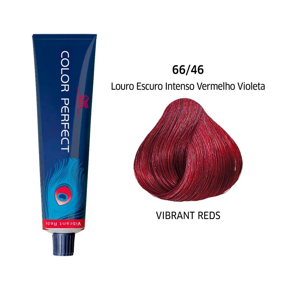 Wella Coloração Color Perfect 66/46 Louro Escuro Intenso Vermelho Violeta