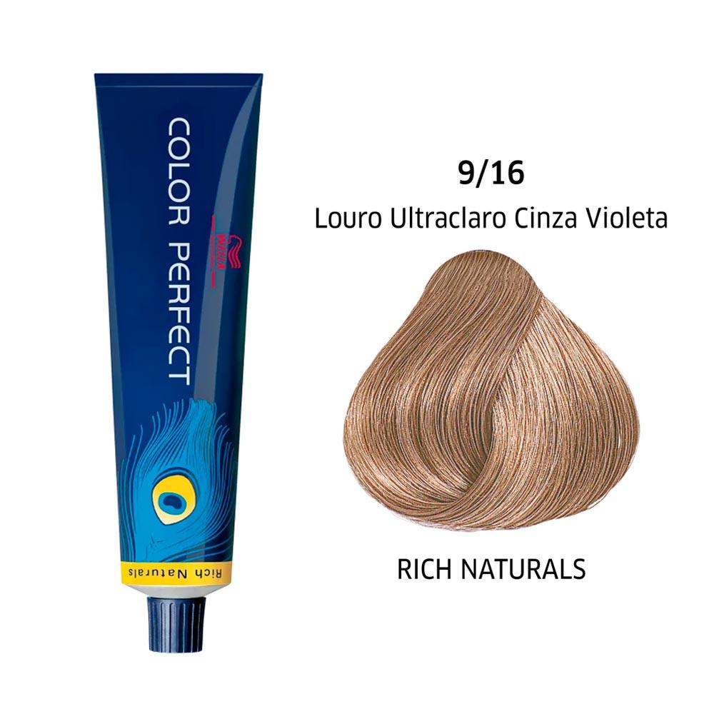 Wella Coloração Color Perfect 9/16 Louro Ultraclaro Cinza Violeta