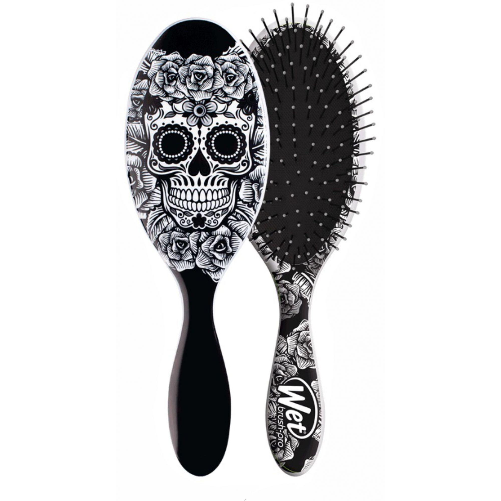 Escova de cabelo Wet Brush Pro - Caveira Branca