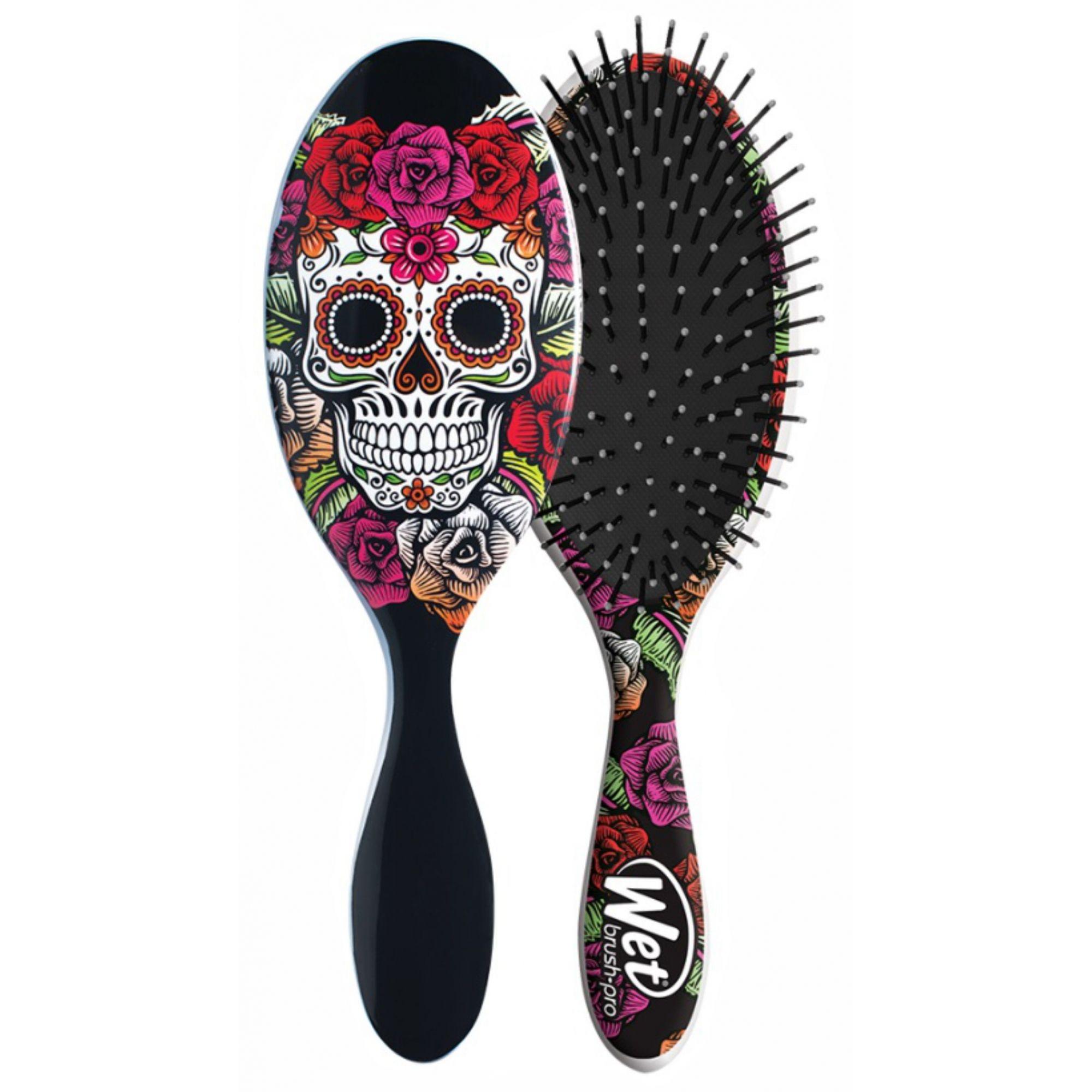 Escova de cabelo Wet Brush Pro - Caveira Vermelha