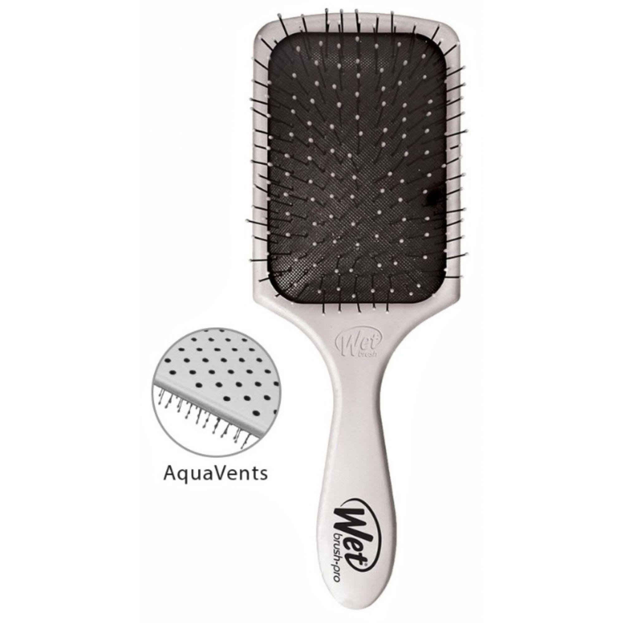 Escova de cabelo Wet Brush Pro - Quadrada Prata