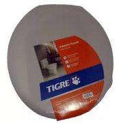 Assento Sanitário Almofadado Oval-Tampa Bacia de Banheiro Cinza Tigre