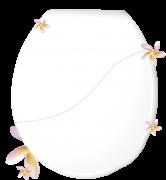 Kit Assento Sanitário Convencional + Lixeira Perfumados Oval-Tampa Bacia de Banheiro Branco
