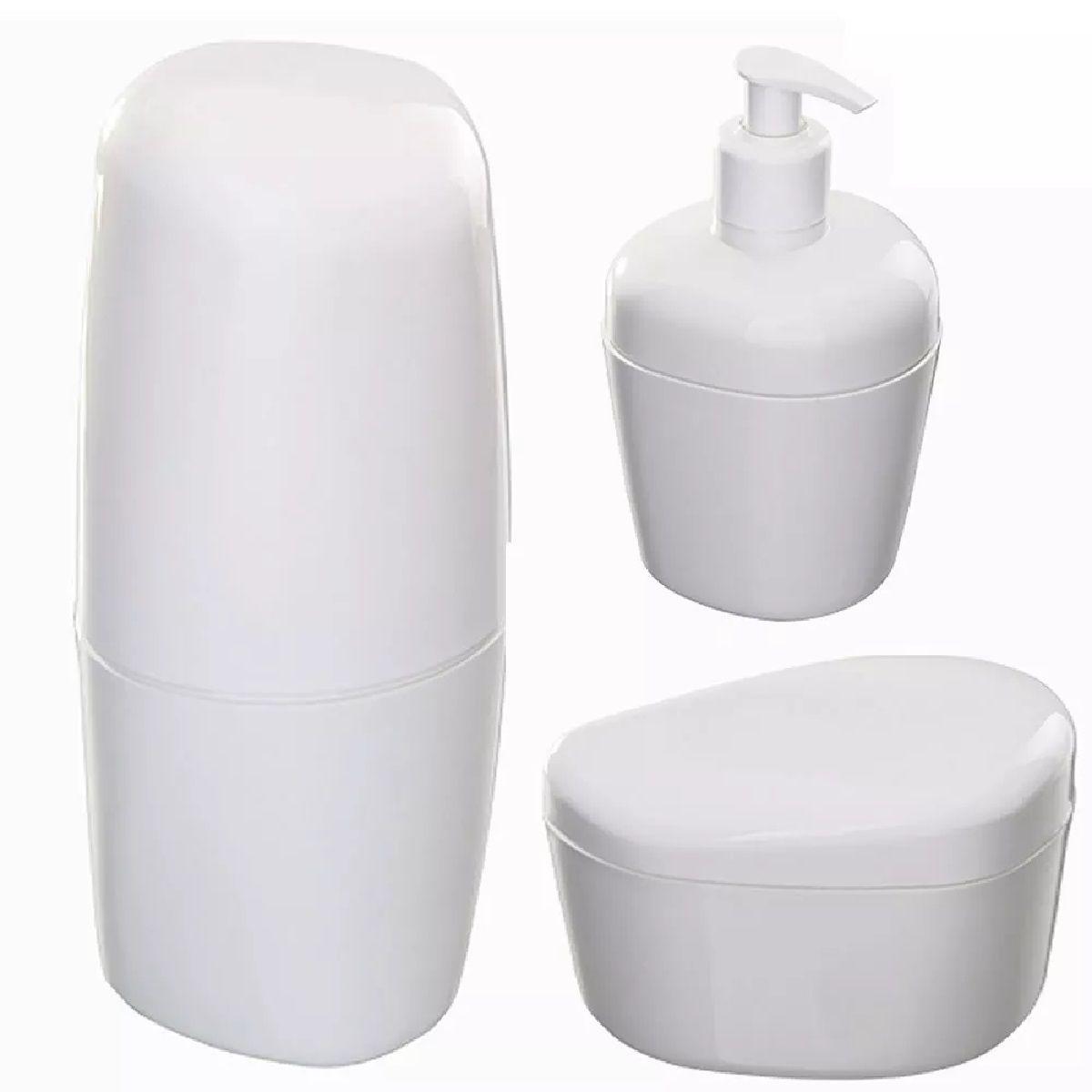 Acessórios para Banheiro 3 peças Branco