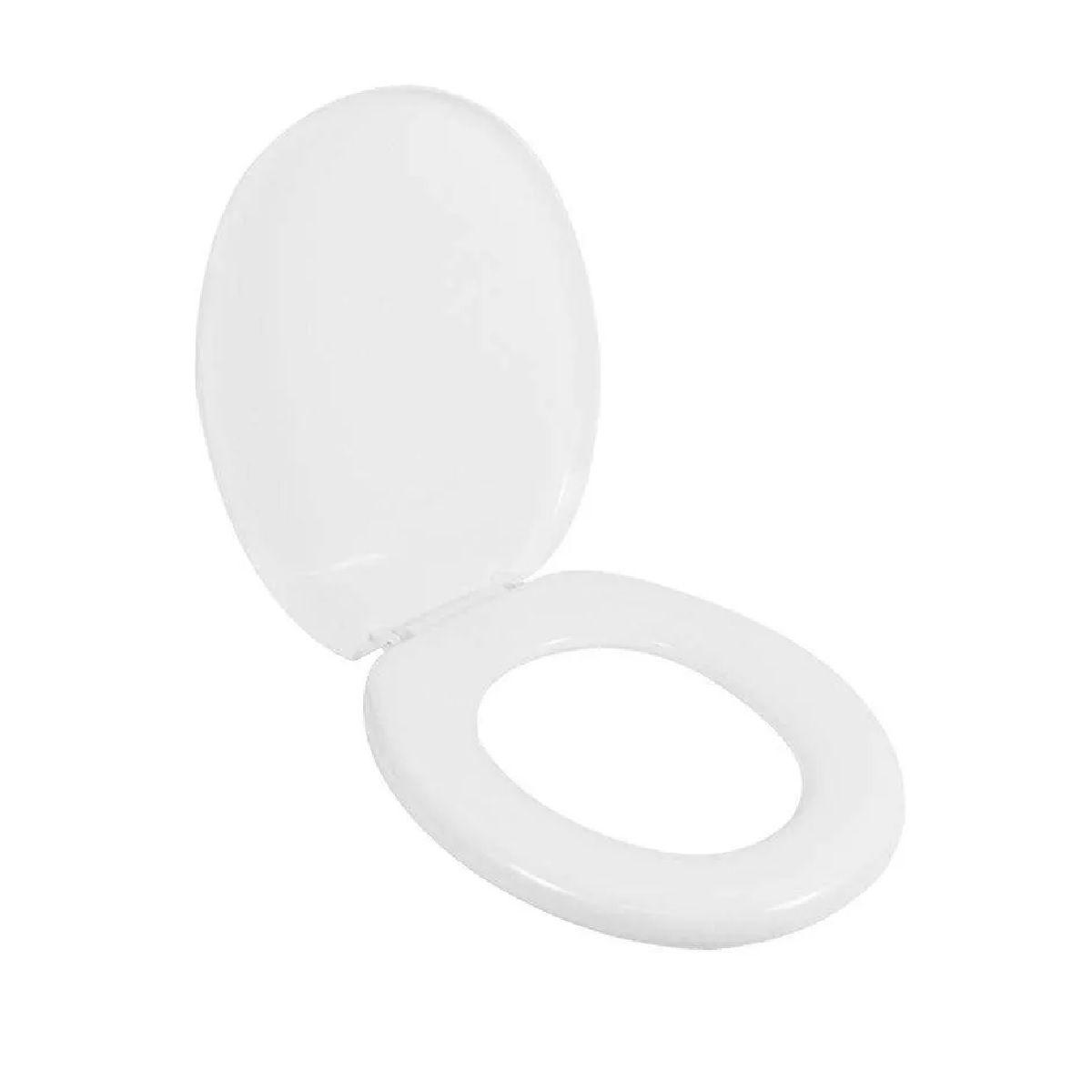 Assento Sanitário Almofadado Oval Branco Astra TPK/AS