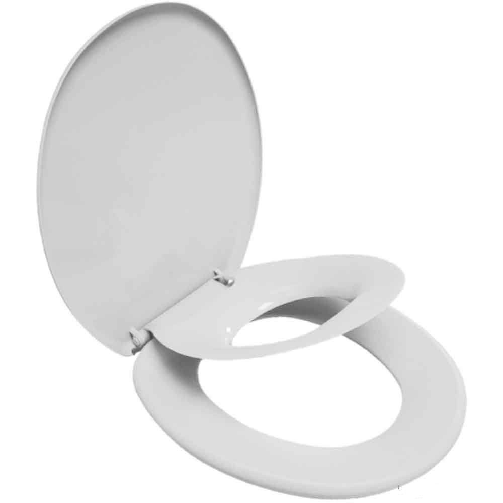 Assento Sanitário Soft Familiar Oval-Tampa Bacia de Banheiro Branco