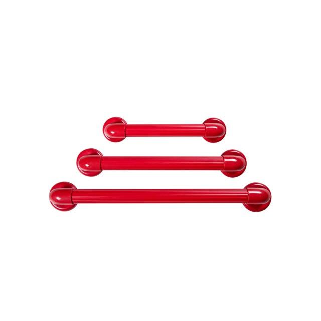Barra de Apoio para Banheiro e Acessibilidade PVC até 150KG Astra 50cm Vermelha