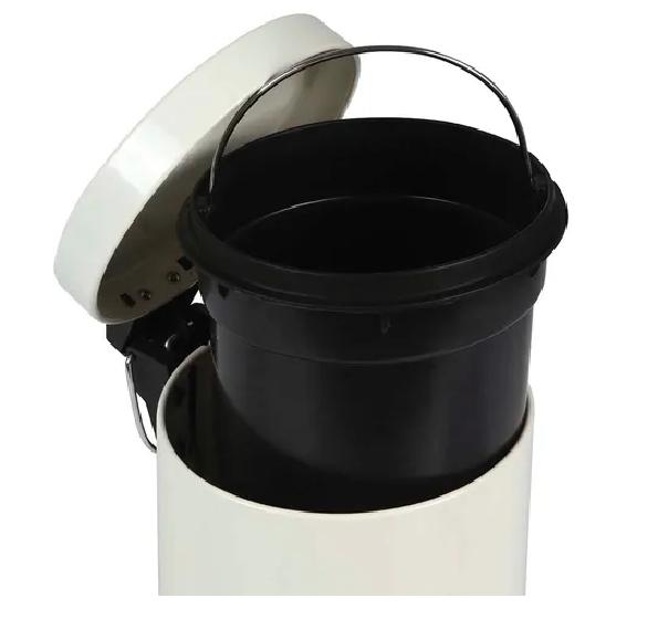 Conjunto Ágata Lixeira 3 Litros e Escova para Higienização de Vaso Sanitário