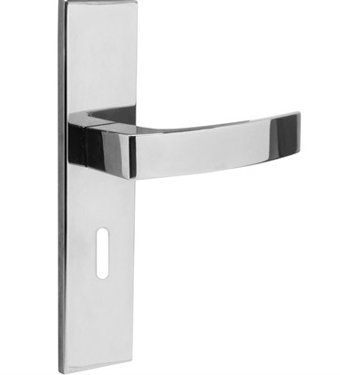 Fechadura p/ Quarto com Espelho Quadratta Cromada Aliança