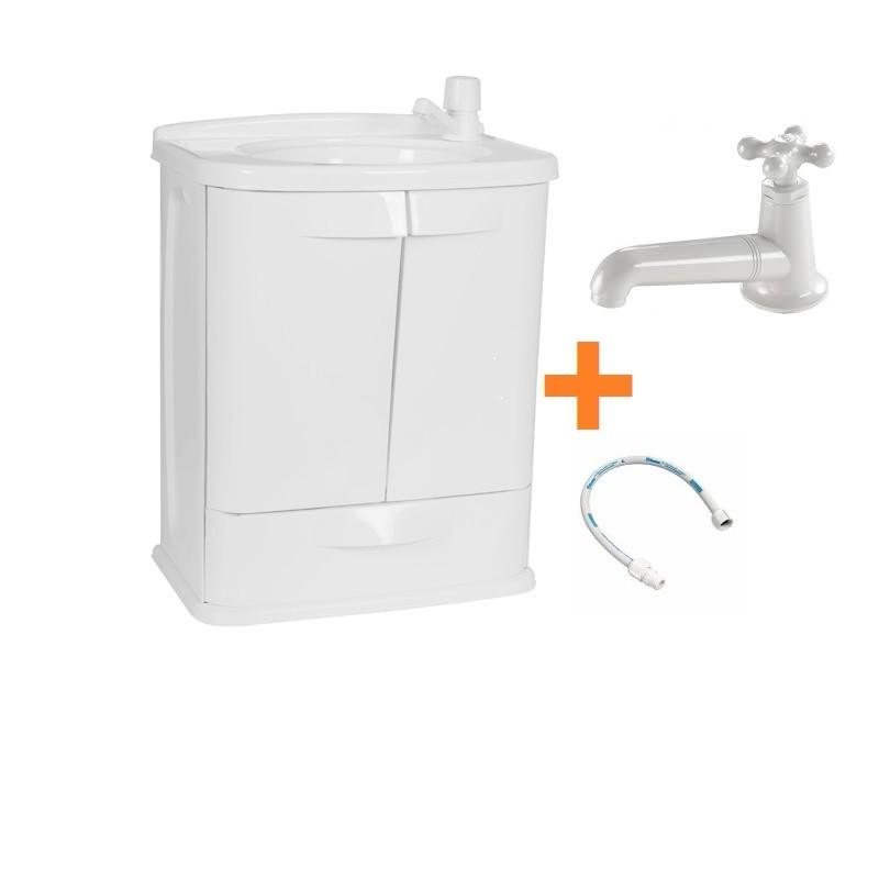 Gabinete Plastico Fit p/ Banheiro Astra Color Completo