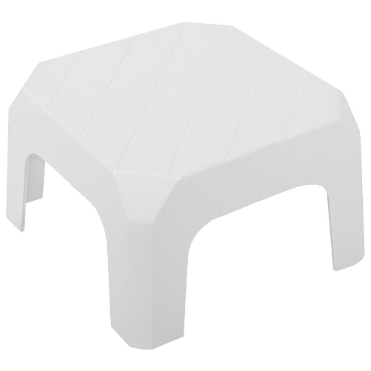 Mini Banqueta Plástica 20cm Branca Astra Bf2/r*br1