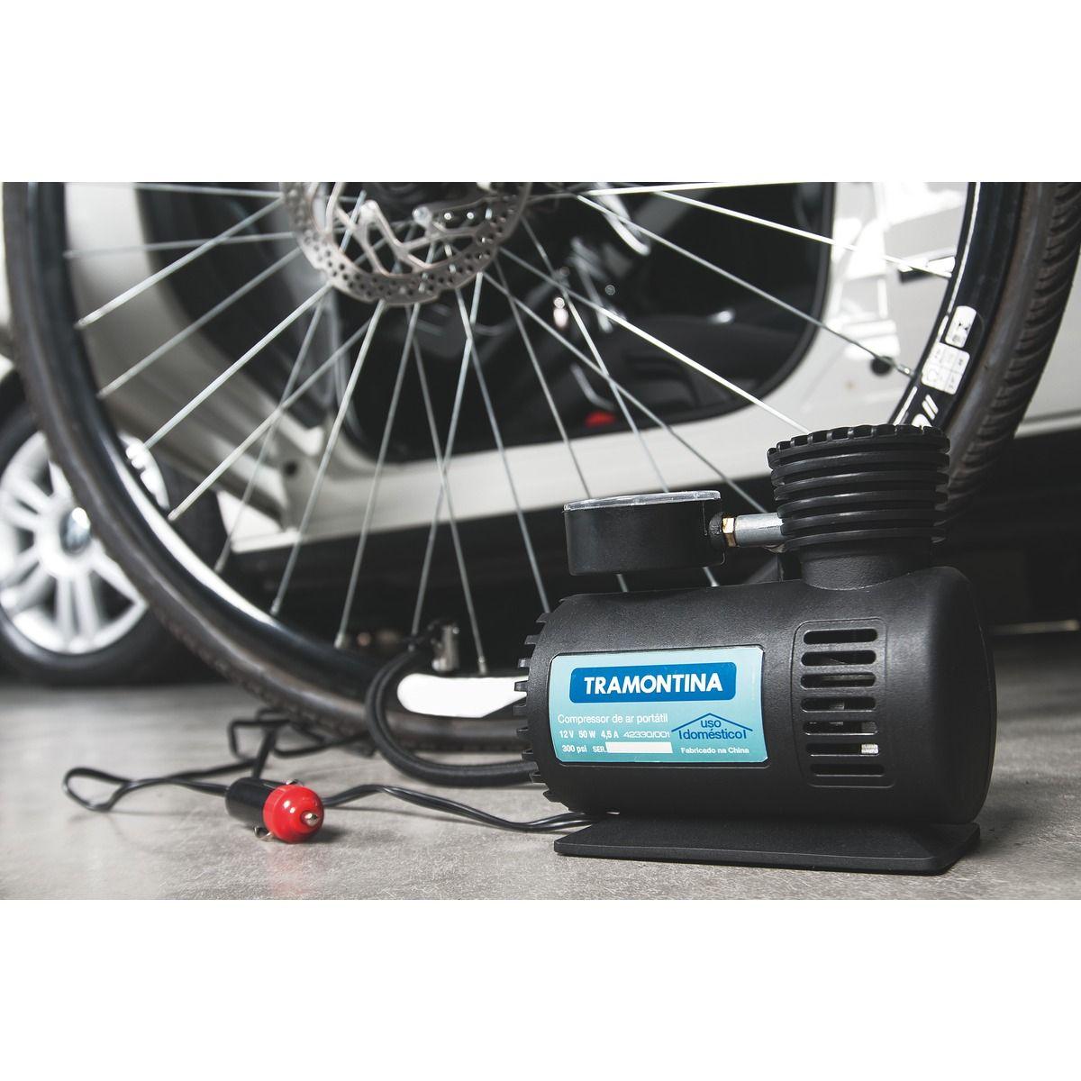 Mini Compressor Ar Automotivo Portátil 300psi 12v Tramontina