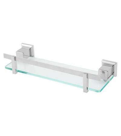 Porta Shampoo Quadratta em Aço Inox c/ Vidro