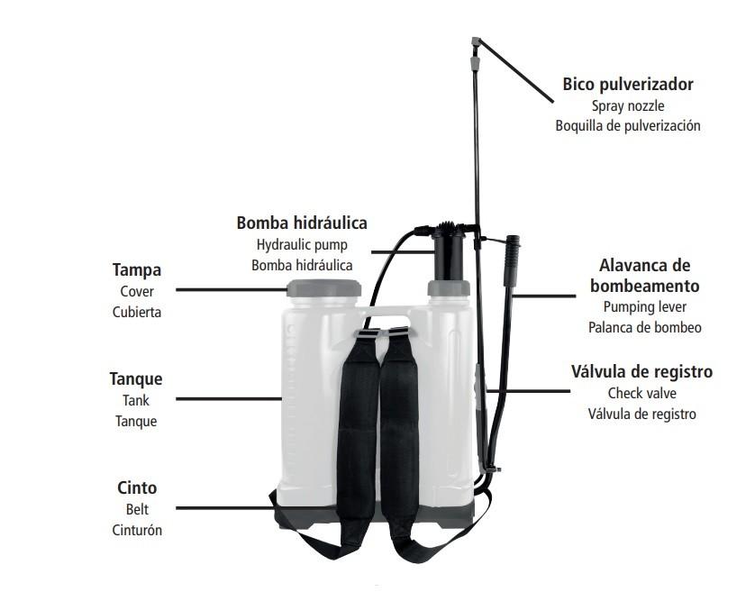 Pulverizador Costal Manual 20 Litros - Tramontina