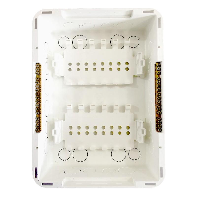 Quadro Distribuição Embutir 12/16 Disjuntores C Barramento Branco Tigre