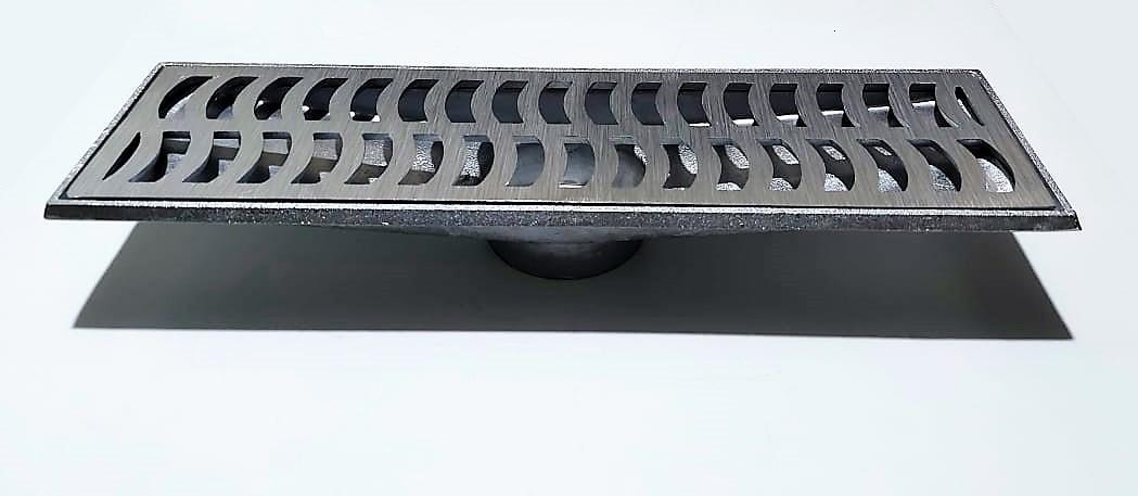 Ralo Linear com Coletor em Alumínio Fundido 15 x 50 *Exclusivo*