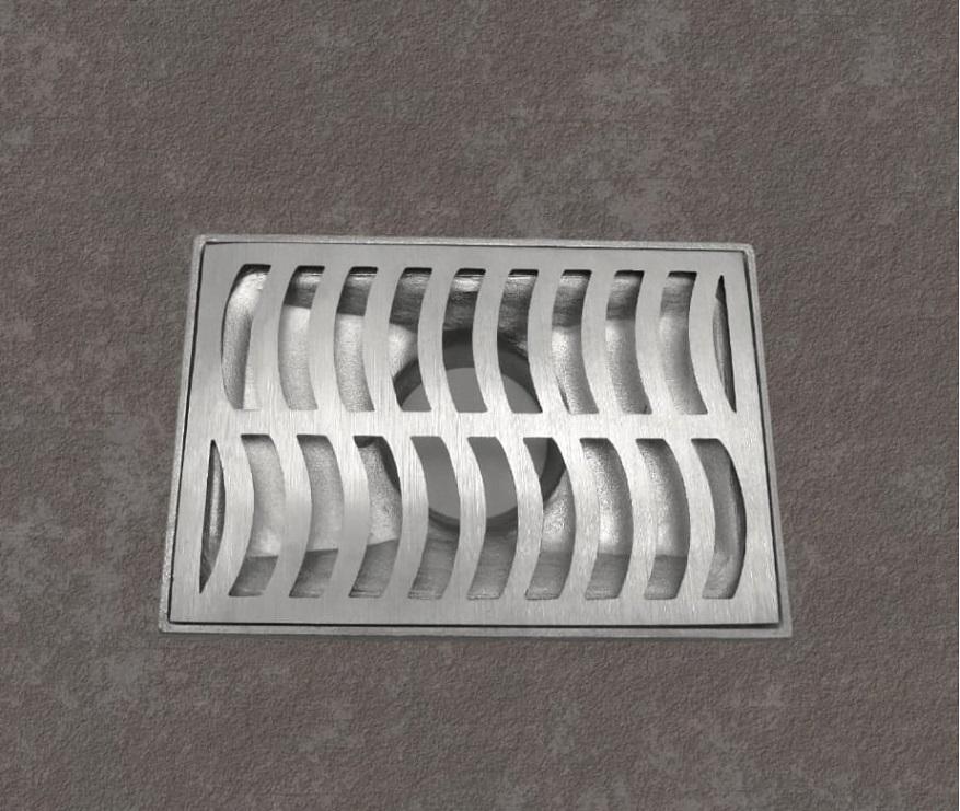 Ralo Linear com Coletor em Alumínio Fundido 20 x 30 *Exclusivo*