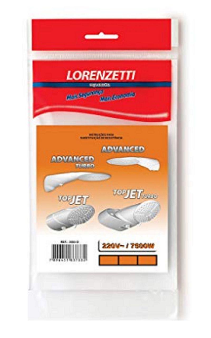 Resistência Ducha Lorenzetti Advanced Multi Turbo 220v 7500w