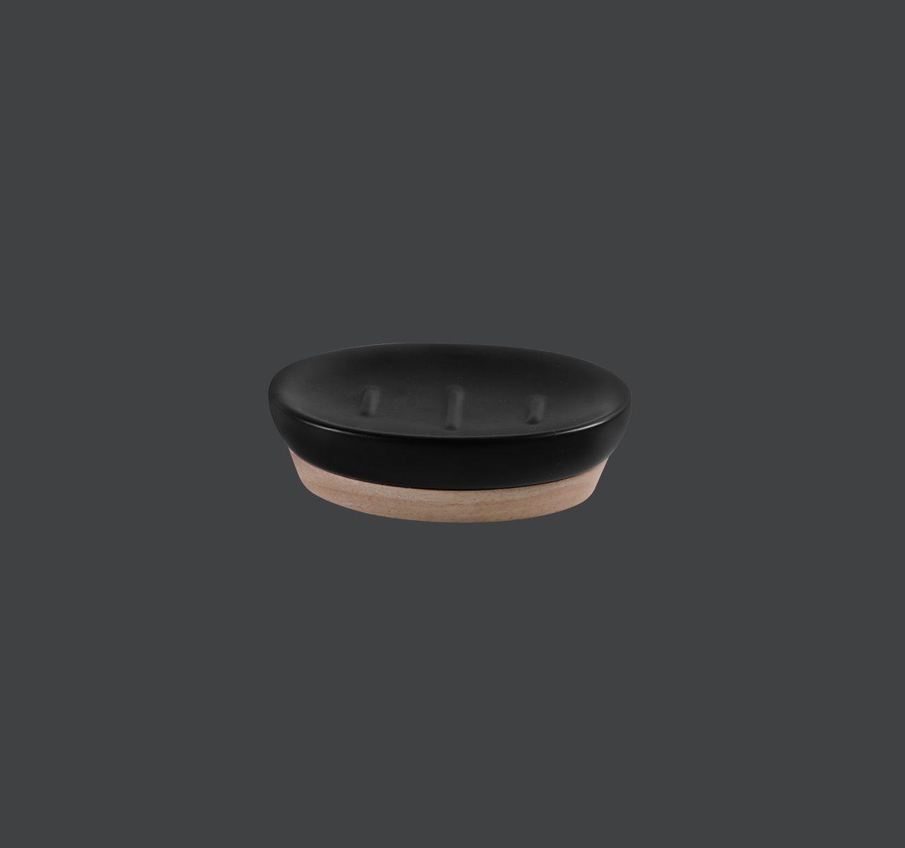 Saboneteira de Cerâmica e Madeira - KBCM/SB