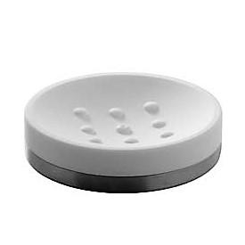 Saboneteira de Mesa Branco / Aço Escovado