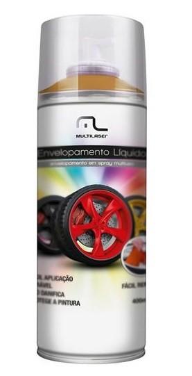 Spray Envelopamento Liquido Dourado 400ml - Multilaser
