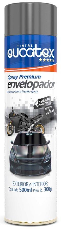 Spray Envelopamento Liquido Grafite Fosco Eucatex 500ml