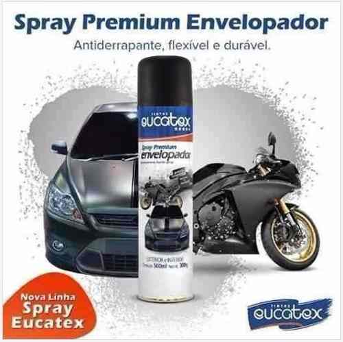 Spray Envelopamento Liquido Verniz Fosco Eucatex 500ml
