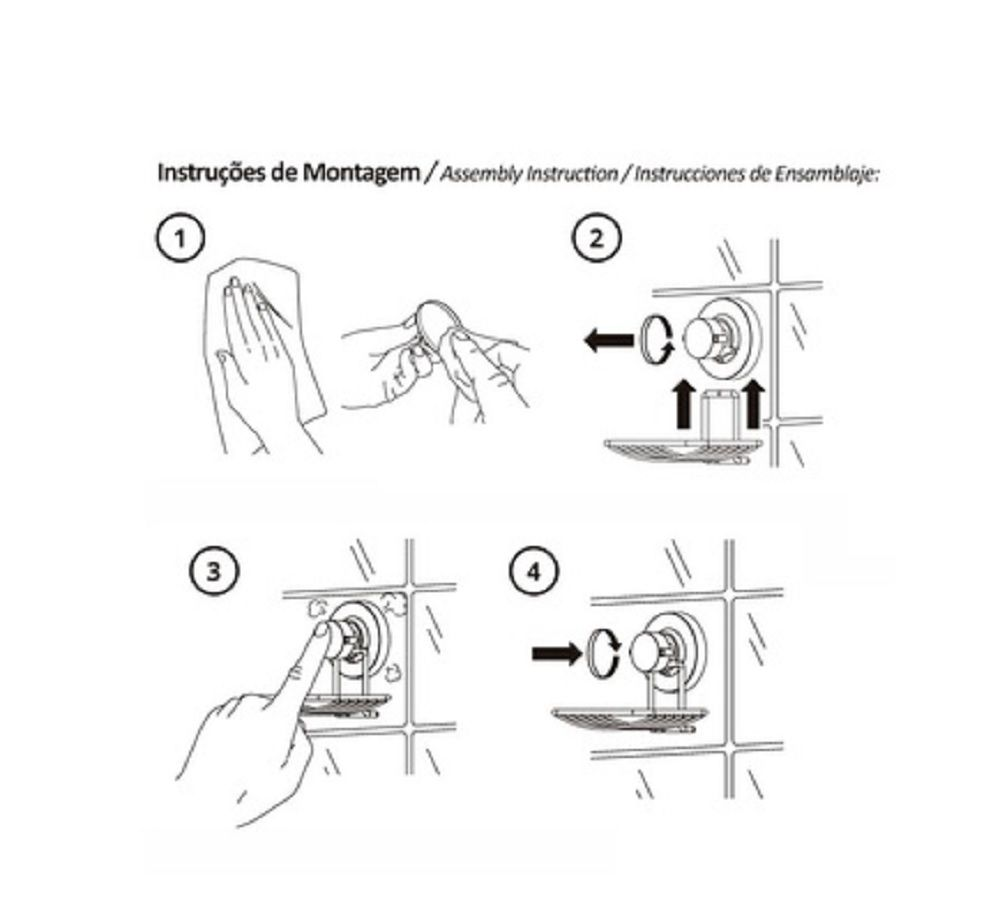 Suporte Multiuso Future C/ Ventosa - Cromado