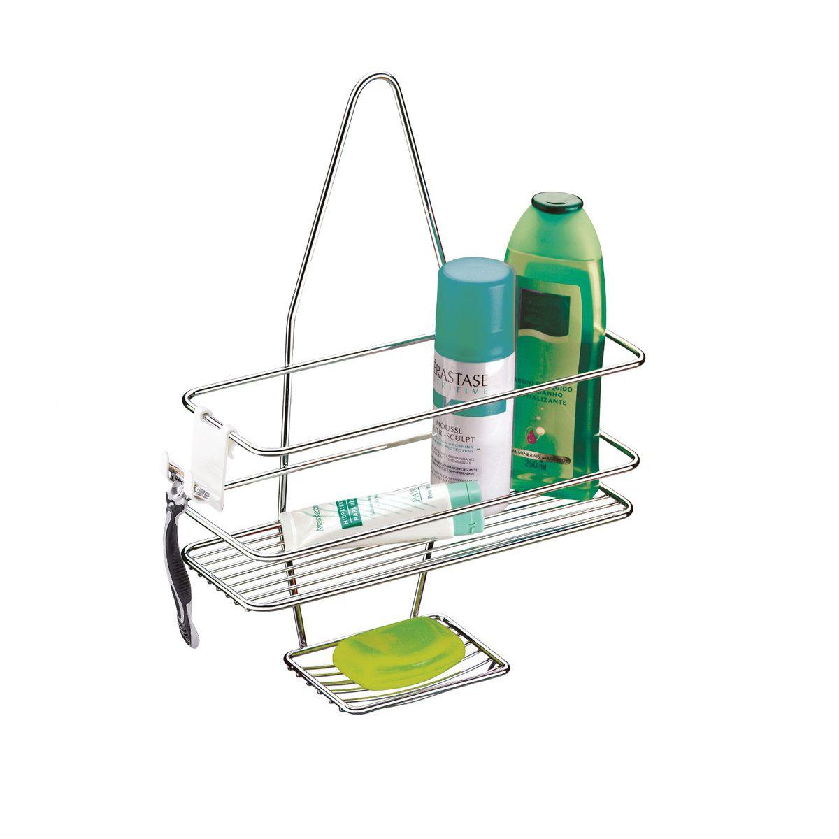 Suporte Para Shampoo/Sabonete De Registro Bagno 27 Cm Cromado