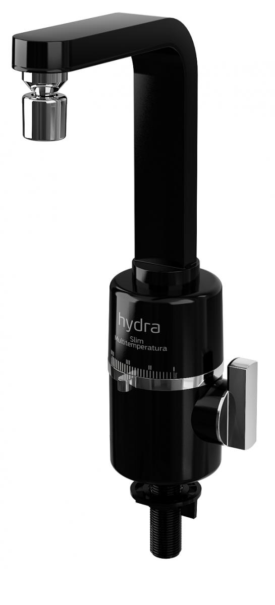 Torneira Elétrica P/ Pia De Bancada Hydra Slim 4t - 127v - 5500W Preta