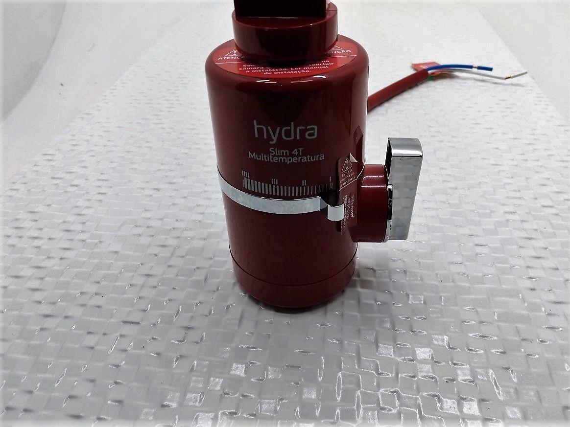 Torneira Elétrica P/ Pia De Bancada Hydra Slim 4t - 220v - 5500W Vermelha