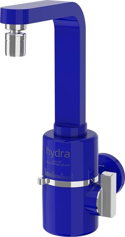 Torneira Elétrica Para Pia De Parede Hydra Slim 4t - 127v - 5500W Azul