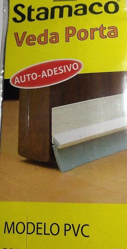 Veda Porta PVC Branco 90 CM Rodo STAMACO