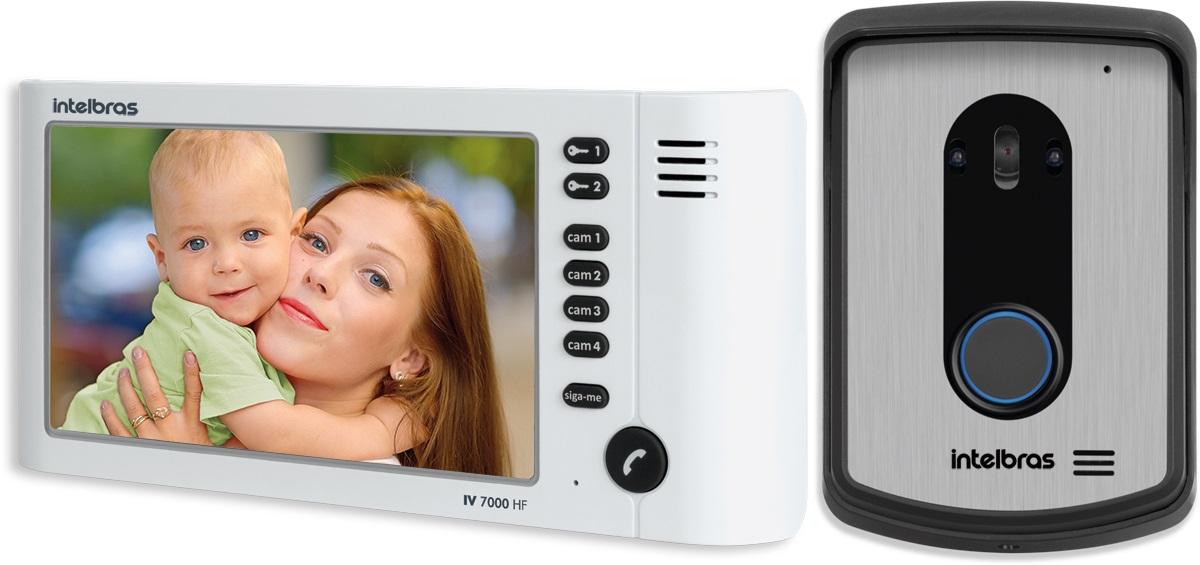 "Vídeo Porteiro Intelbras IV 7010 Tela LCD 7"" Color Viva voz"