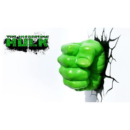 Luminaria 3d Punho Do Hulk Amsmega Eletronicos