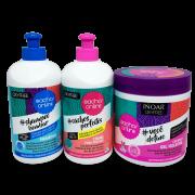 Inoar Kit Cachos OnLine - Shampoo, Creme para Pentear e Gelatina