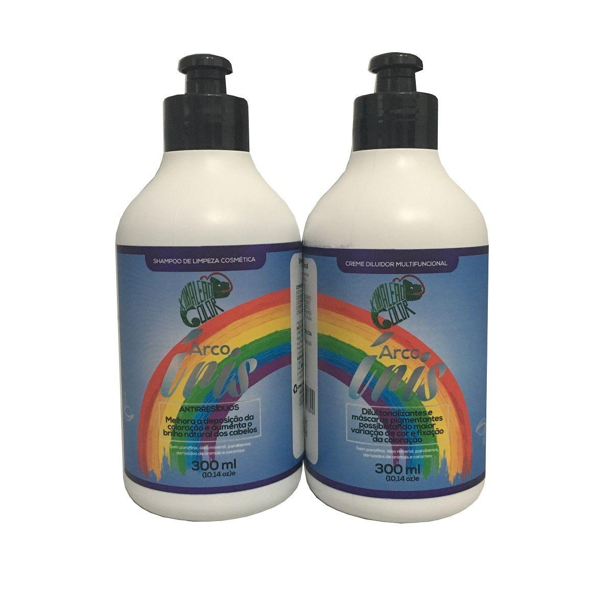 Kamaleão Kit Arco Íris - Shampoo de Limpeza e Creme Diluidor