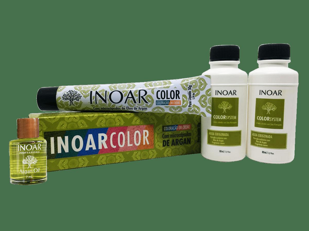 Inoar Kit Color System 8.34 - 2 Coloracoes  2 Ox  Oleo de Argan Gratis