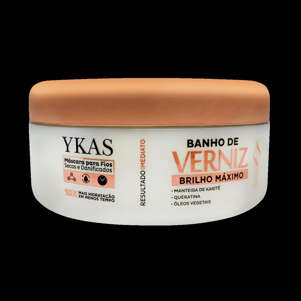 Ykas Mascara Banho de Verniz Brilho Maximo - 250g