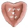 Balão Coração Rose Gold Personalizado para Despedida de Solteira