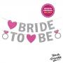 Banner Bride to Be em Glitter Pronta Entrega para Despedida de Solteira