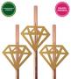Canudo Diamante Dourado 10 Unidades Pronta Entrega para Despedida de Solteira