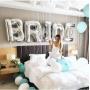Faixa de Balões Bride prata Pronta Entrega para Despedida de Solteira