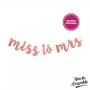 Banner Decorativo Miss to Mrs Rose Gold Pronta Entrega para Despedida de Solteira