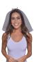 Tiara Bride detalhe em coração com véu médio