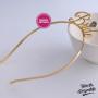 Tiara Bride Dourada com Diamante Pronta Entrega para Despedida de Solteira