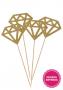 Topper de Bolo Diamante Dourado Pronta Entrega para Despedida de Solteira