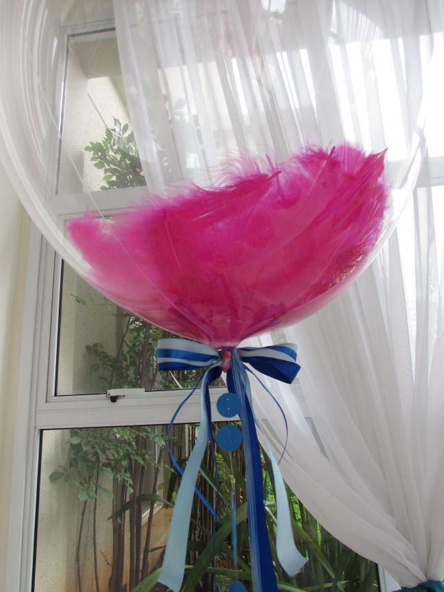 Balão Bubble com Penas Personalizado, Balão com Penas Transparente Personalizado, Balão com Penas Personalizado, Bubble com Penas Personalizado, Bexiga com Penas para Despedida de Solteira
