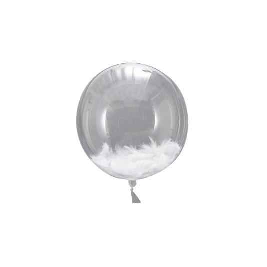 Balão Bubble com Penas Personalizado para Despedida de Solteira