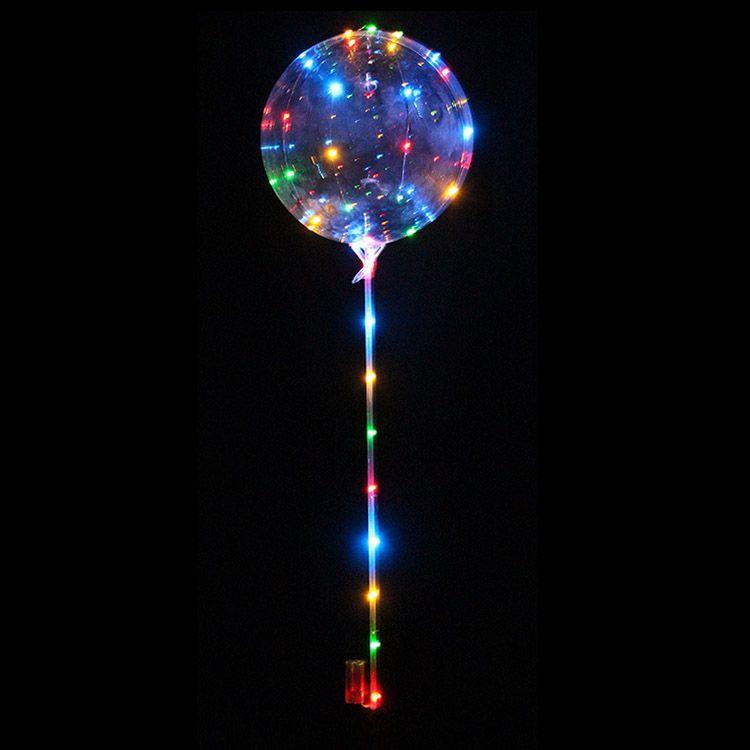Balão Bubble Led sem Personalização, Balão Transparente com luz, Balão Transparente com led, Balão com led, Balão Pisca, Bubble com led, balao com led fada